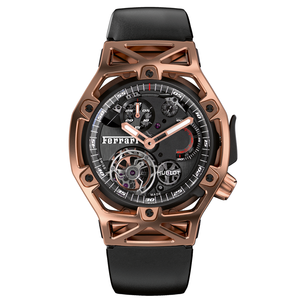 Hublot Techframe Ferrari Tourbillon Gold Watch