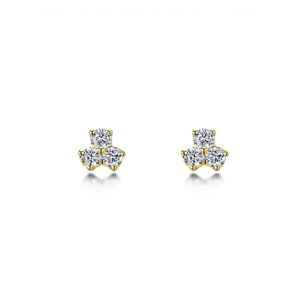 ROX Diamond Three Stone Earrings 0.15cts