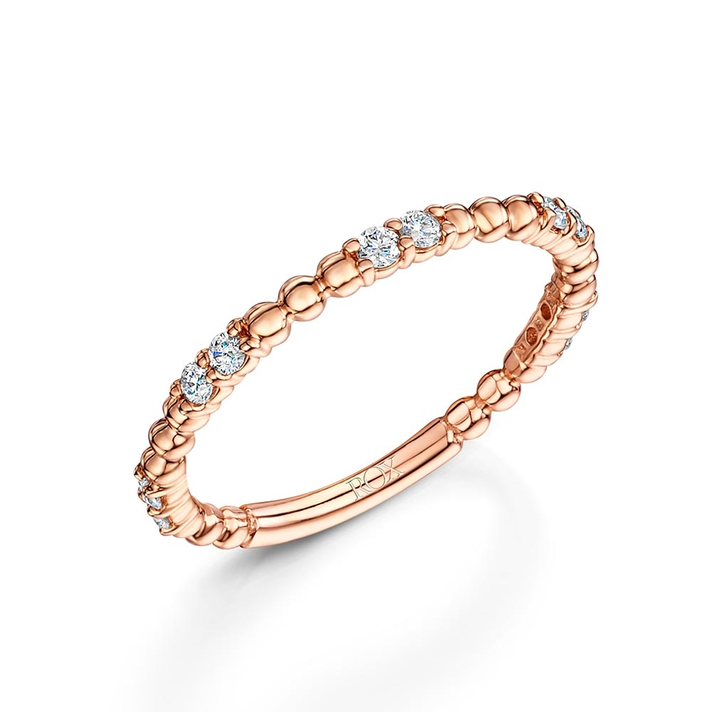 ROX Rose Gold Brilliant Stacking Ring 0.20cts