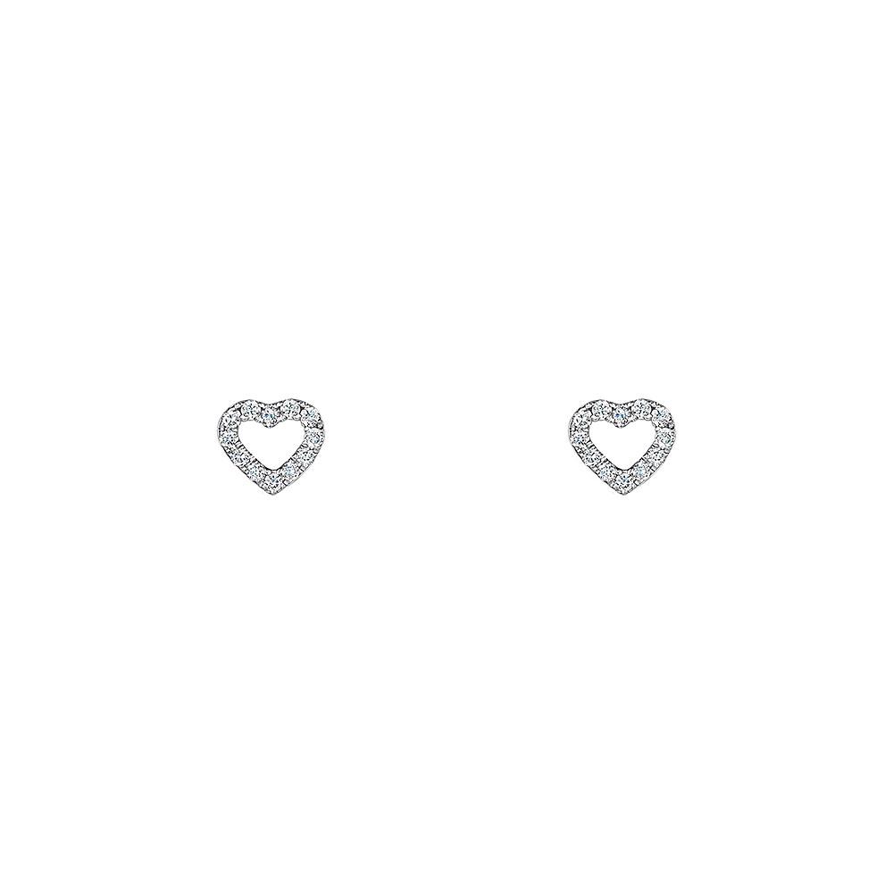 ROX Diamond Heart Stud Earrings 0.07cts