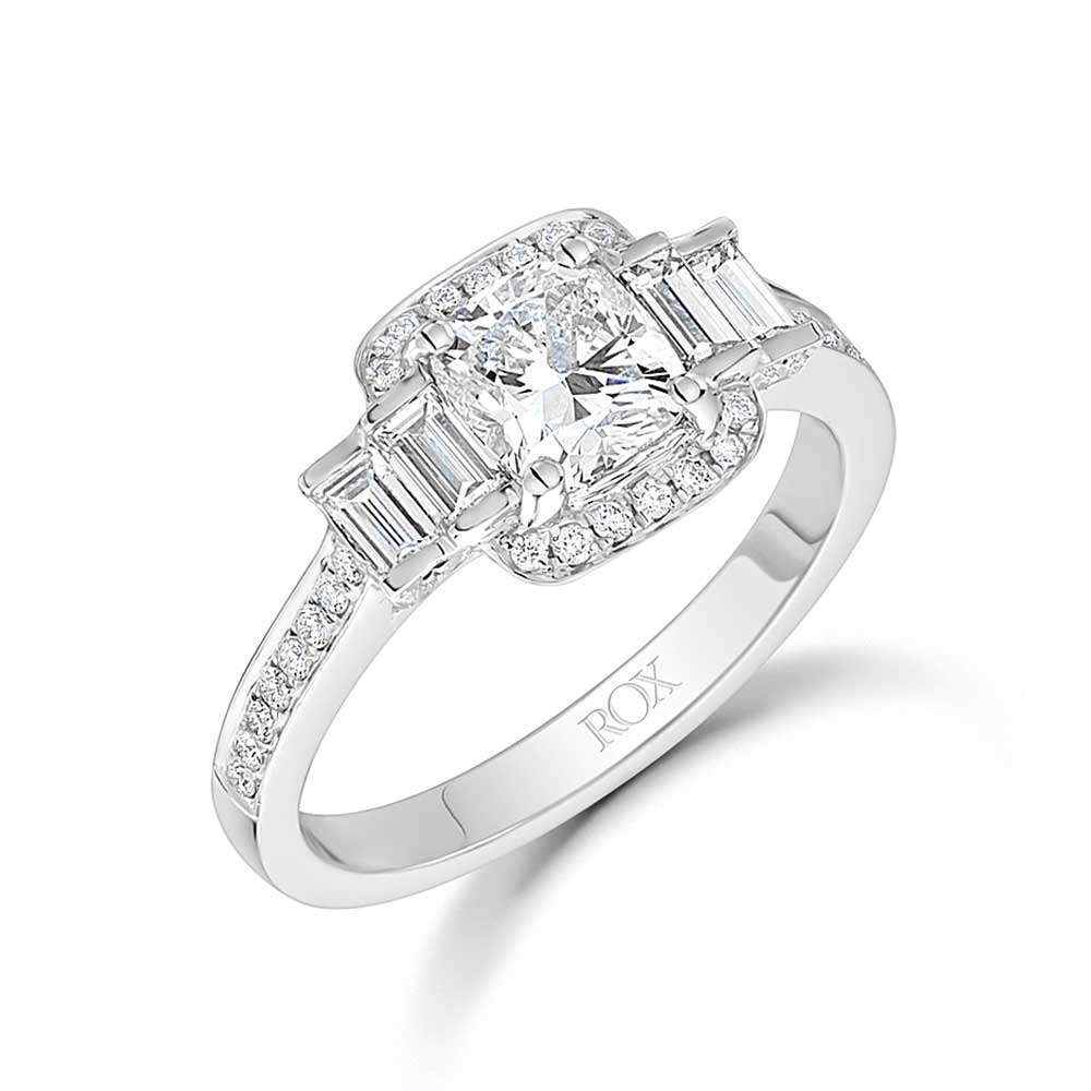 ROX Cushion Diamond Halo Ring 1.75cts
