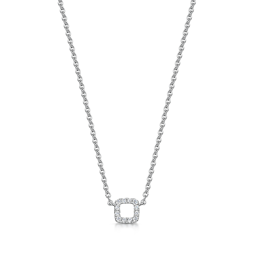 ROX Diamond Square Pendant 0.05cts