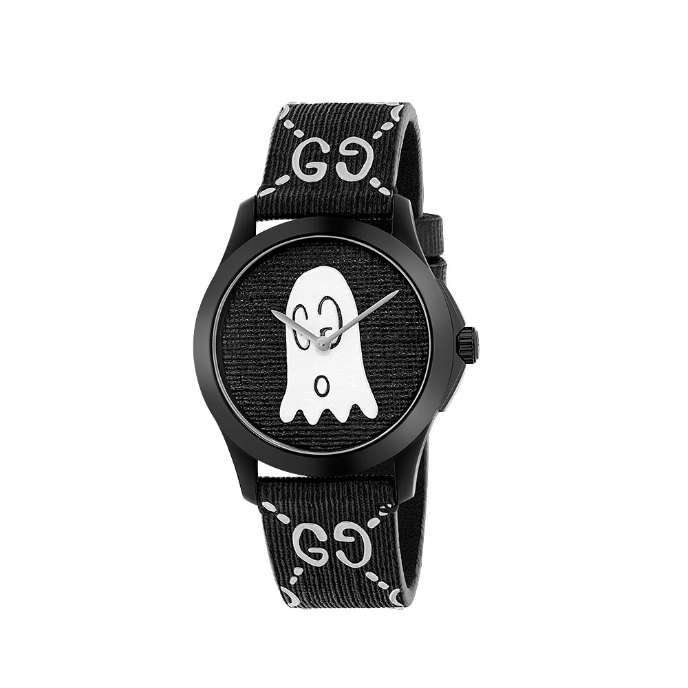 Gucci G-Timeless Ghost Black Strap Watch