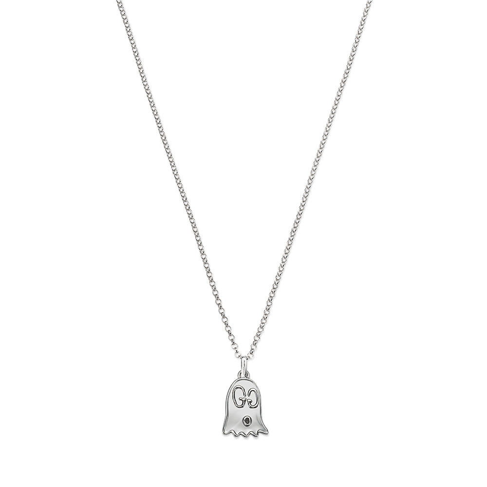 Gucci Ghost Blind for Love Silver Necklace