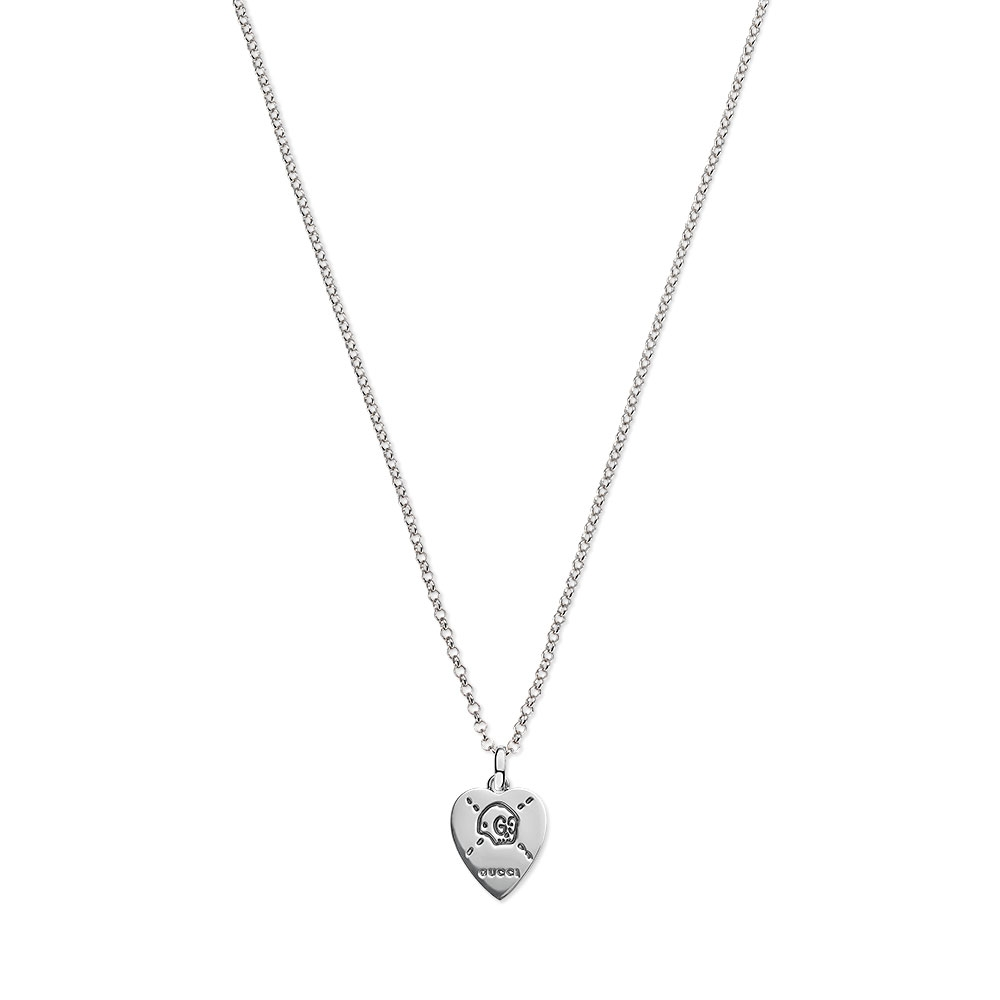 Gucci Blind for Love Heart Skull & Stars Necklace