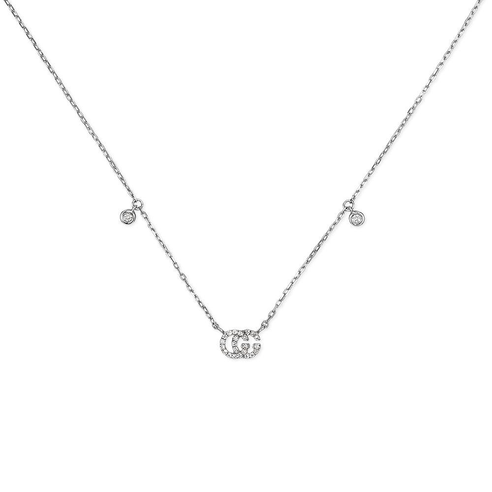 Gucci Running G Diamond Pendant