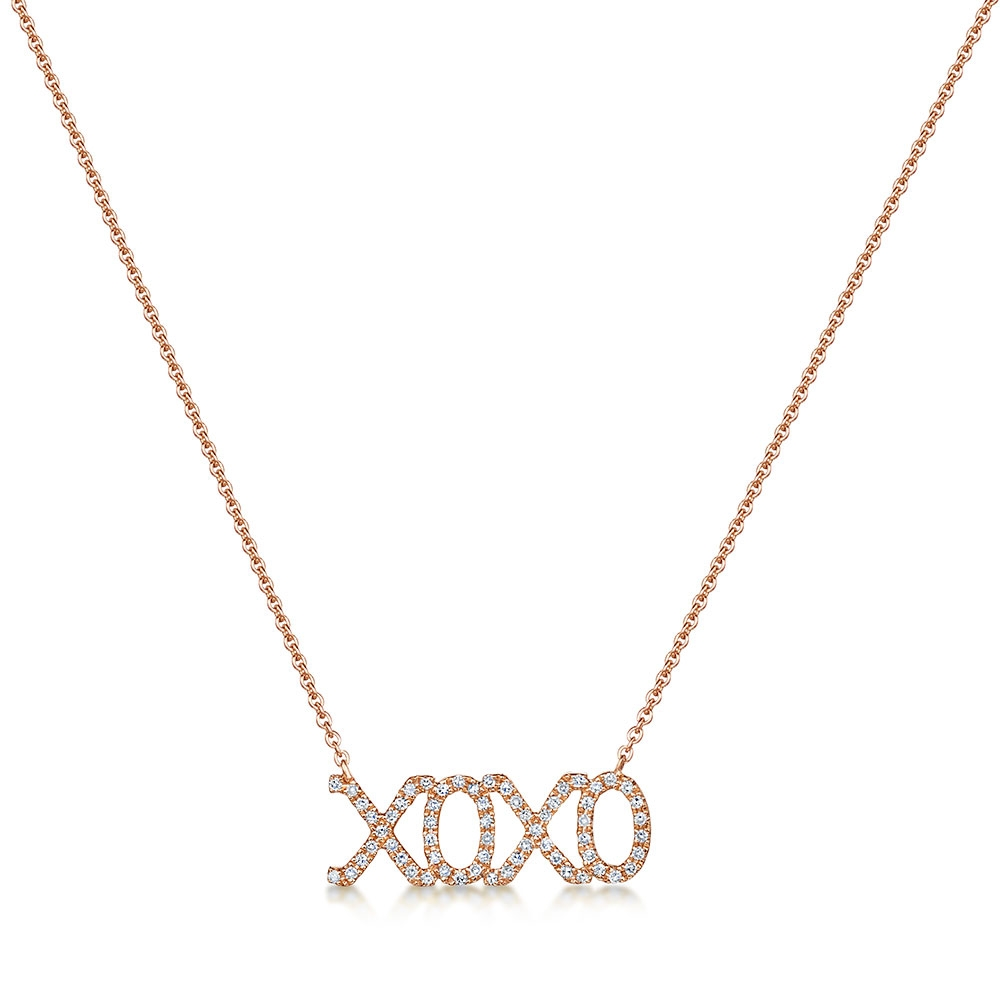 Diamond 'XOXO' Pendant 0.12cts