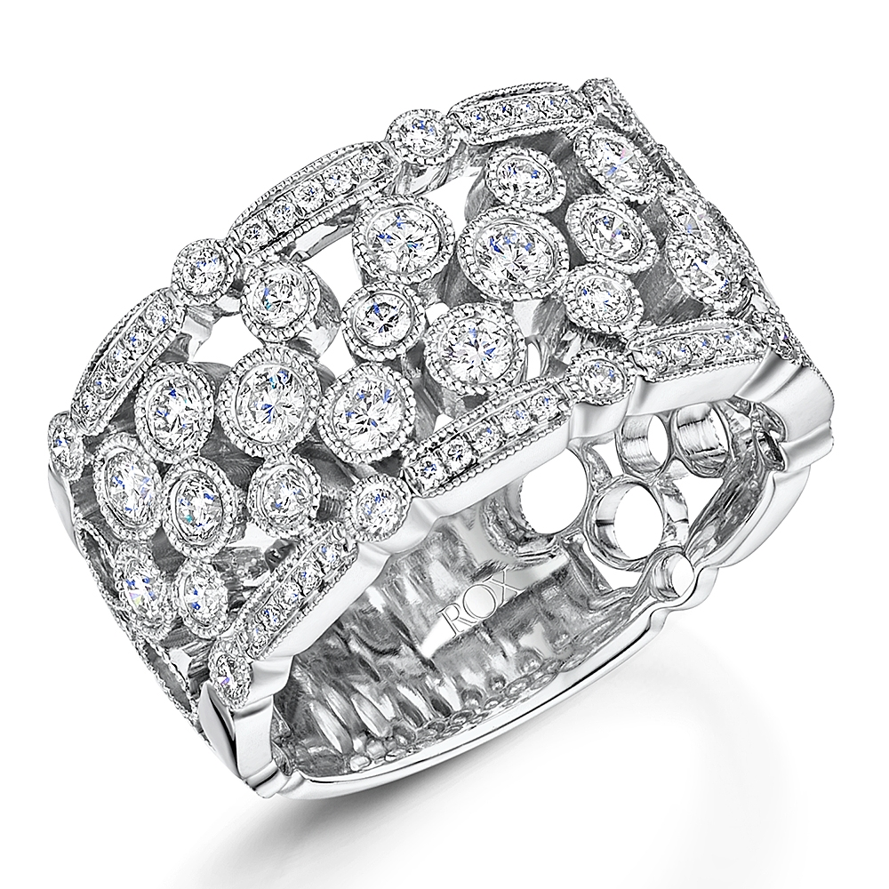 Diamond Cutout Cocktail Ring 1.04cts