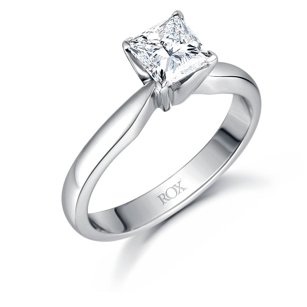 ROX Icon Princess Solitaire Diamond Ring 1.01cts