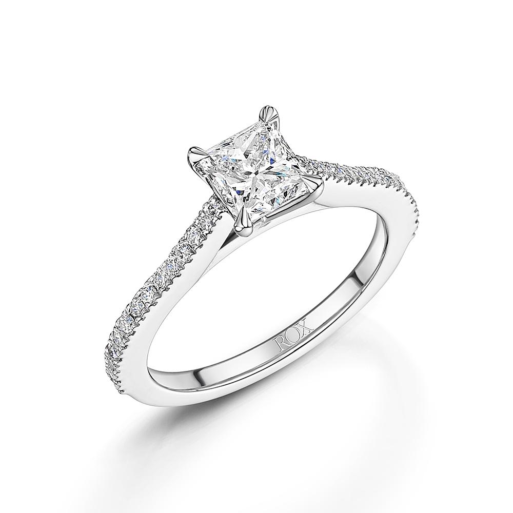 ROX Love Princess Cut Diamond Ring 1.20cts