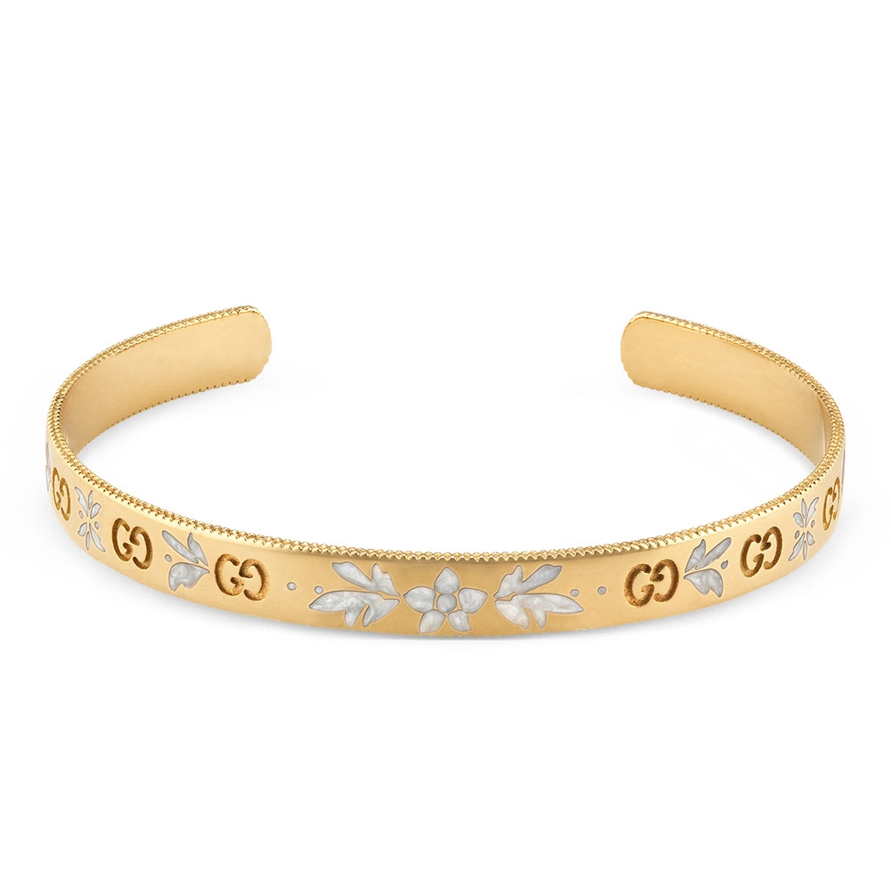 Gucci Icon 18ct Yellow Gold Blossom Bracelet