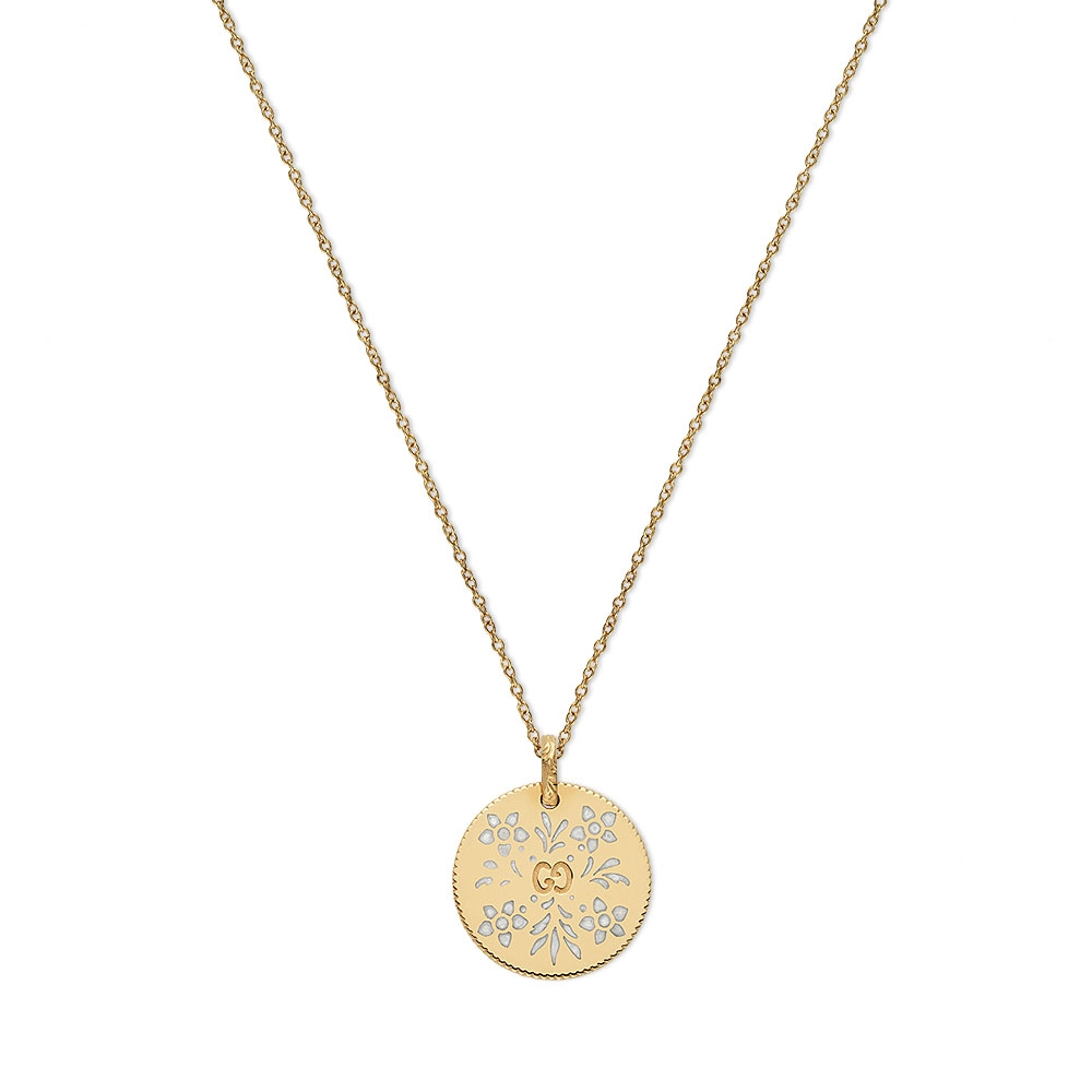 Gucci Icon Blooms Disc Necklace