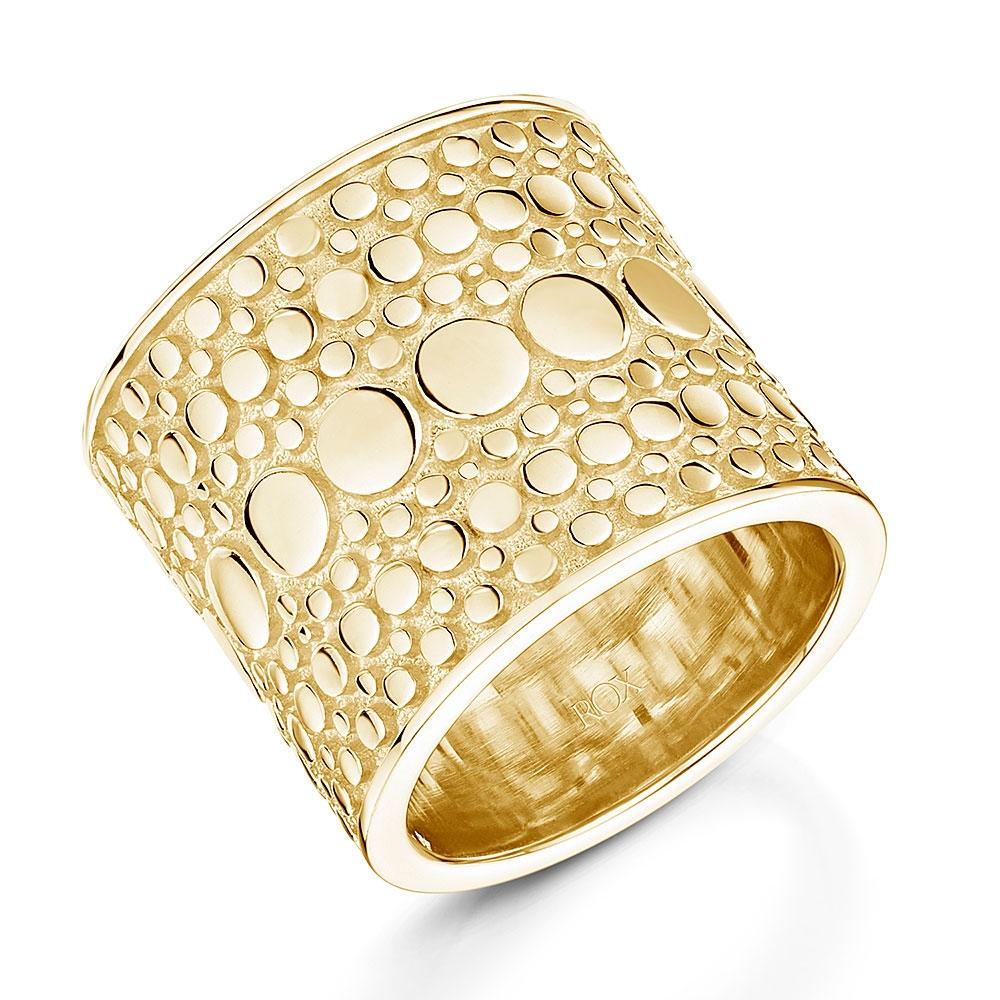ROX Boho Broad Gold Vermeil Ring