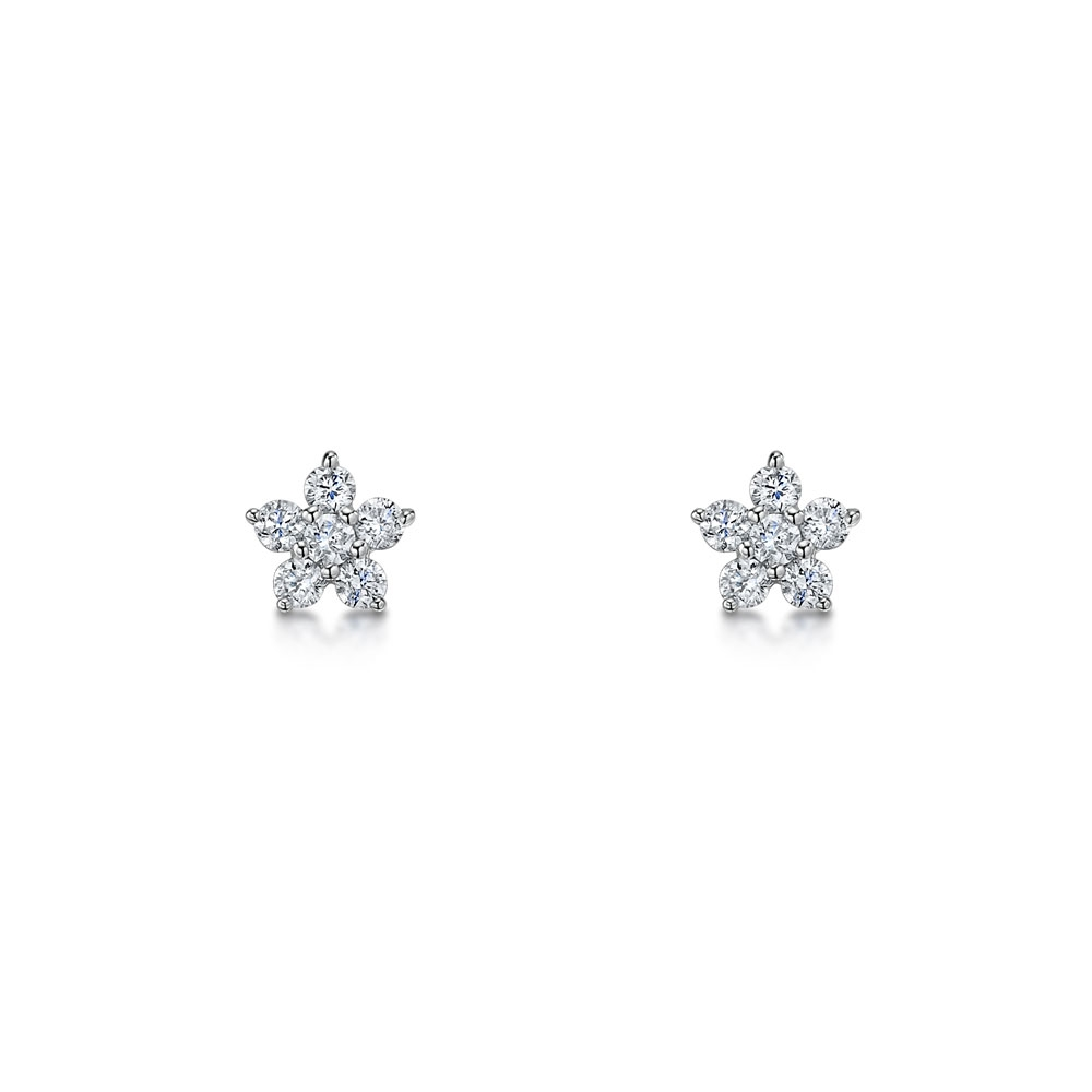 Diamond Earrings 0.12cts