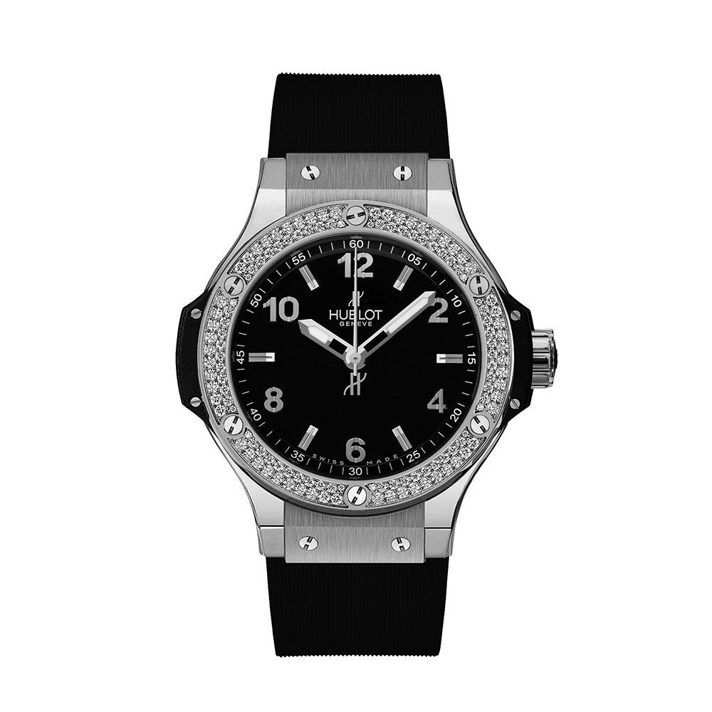 Hublot Big Bang Dia Bezel Black Dial Watch 38mm