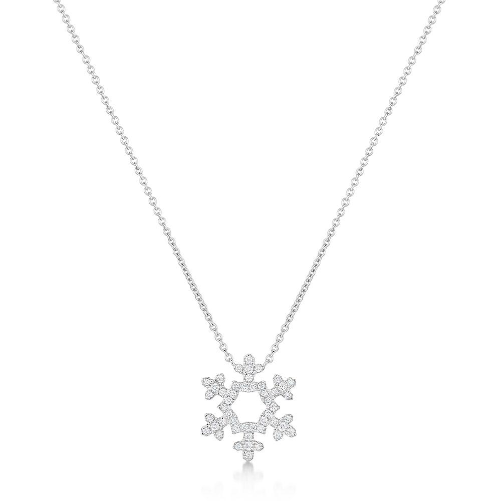Diamond Snowflake Pendant 0.15cts