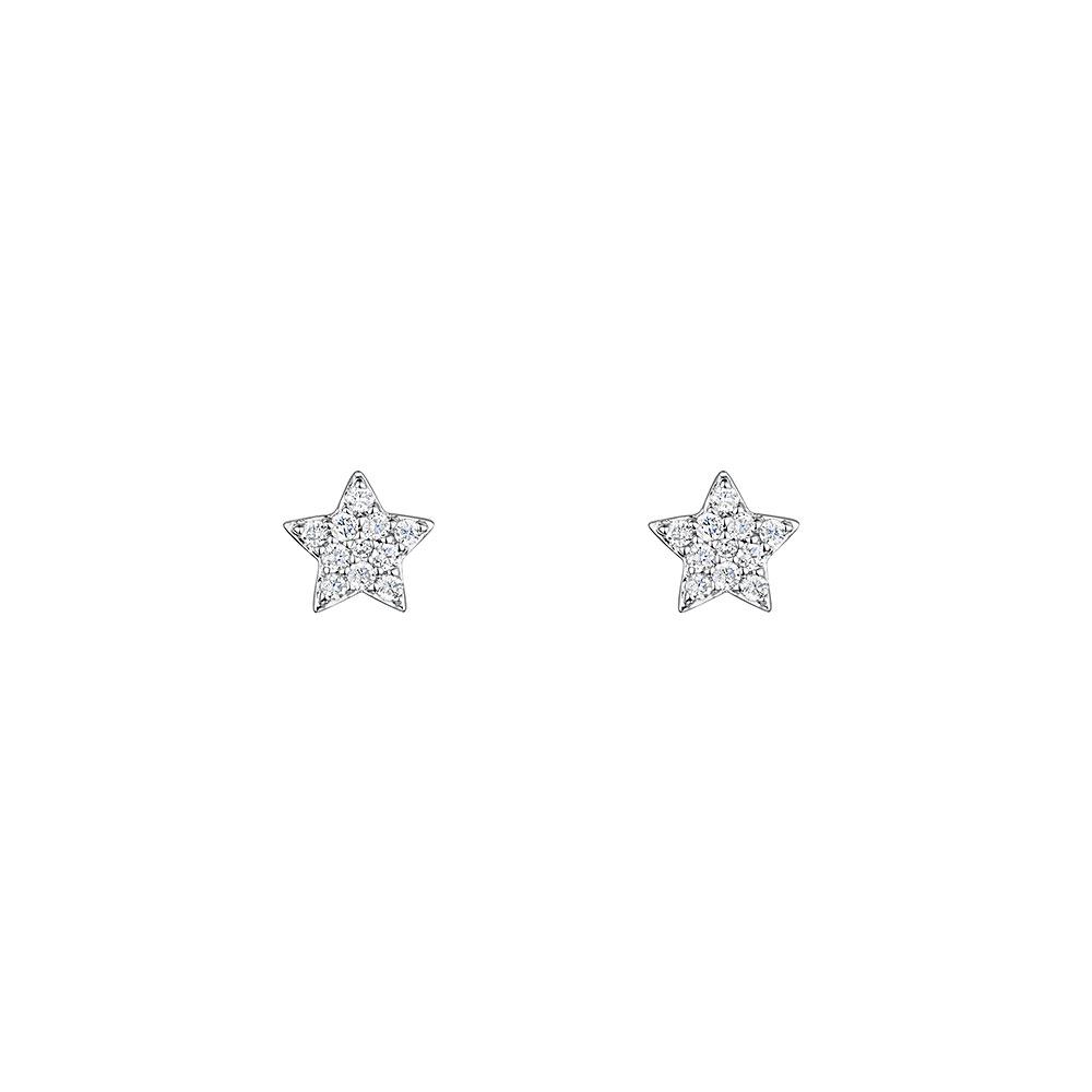 Diamond Star Earrings 0.12cts