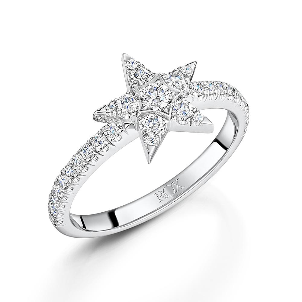 Diamond Star Ring 0.56cts