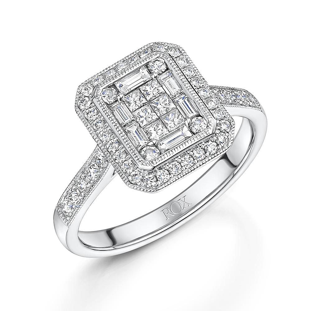 Vintage Mixed Cut Diamond Ring 0.64cts
