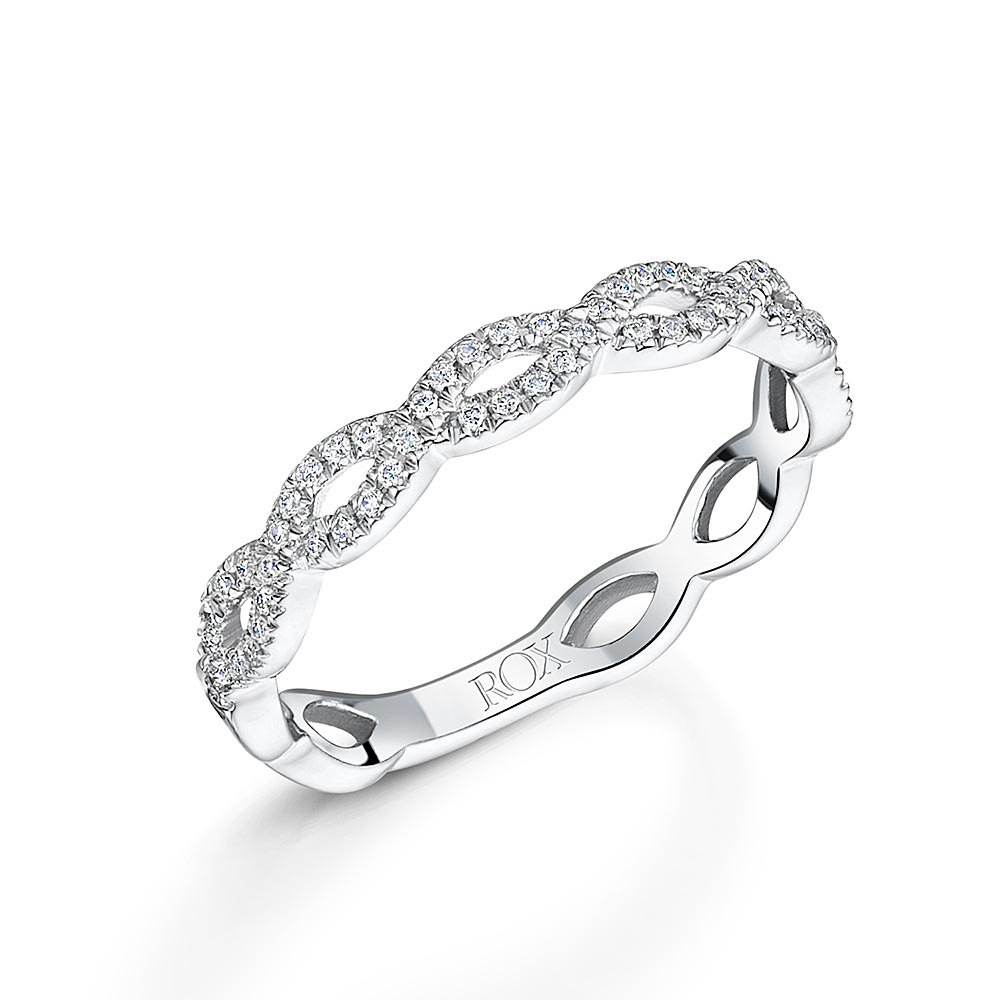 White Gold Brilliant Stacking Ring 0.15ct