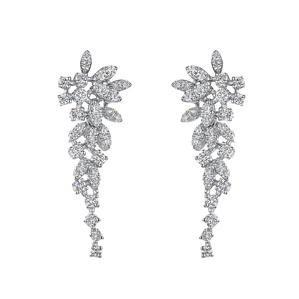 ROX Diamond Droplet Earrings 1.42cts