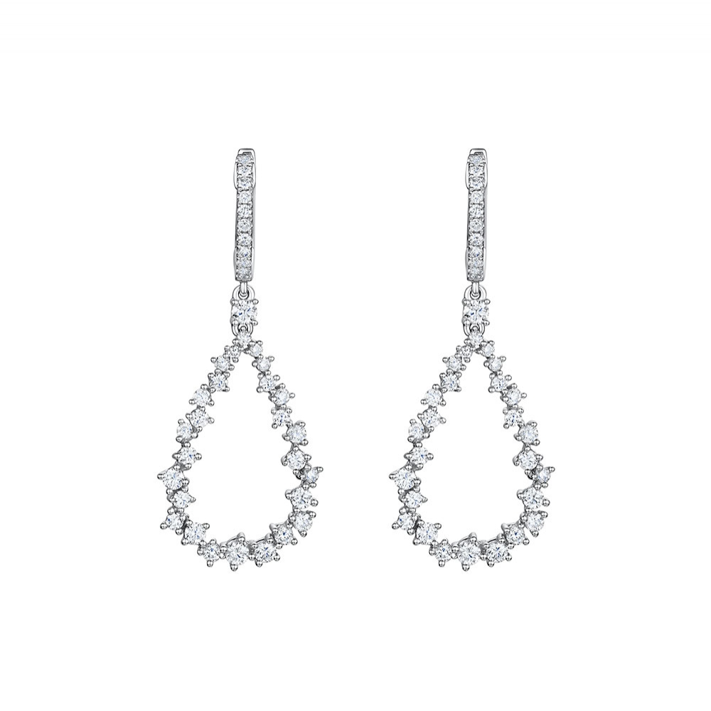 ROX Diamond Teardrop Earrings 1.64cts