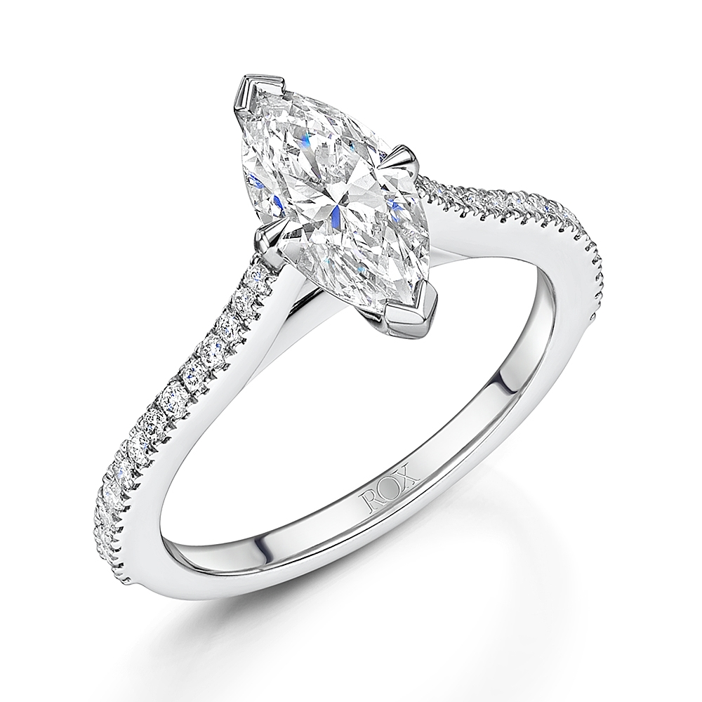 ROX Love Marquise Cut Diamond Ring 1.23cts