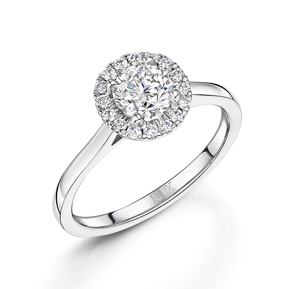 ROX Brilliant Diamond Halo Ring 0.90cts