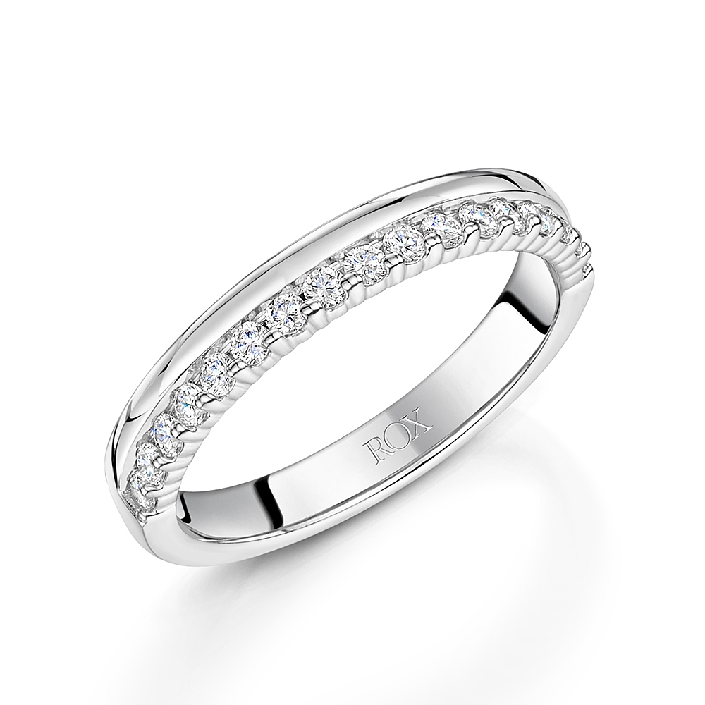 ROX Diamond Edge Wedding Ring 0.33cts