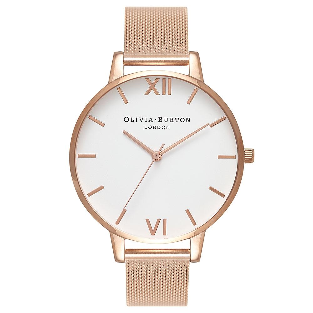 Olivia Burton Big Dial Rose Mesh Watch