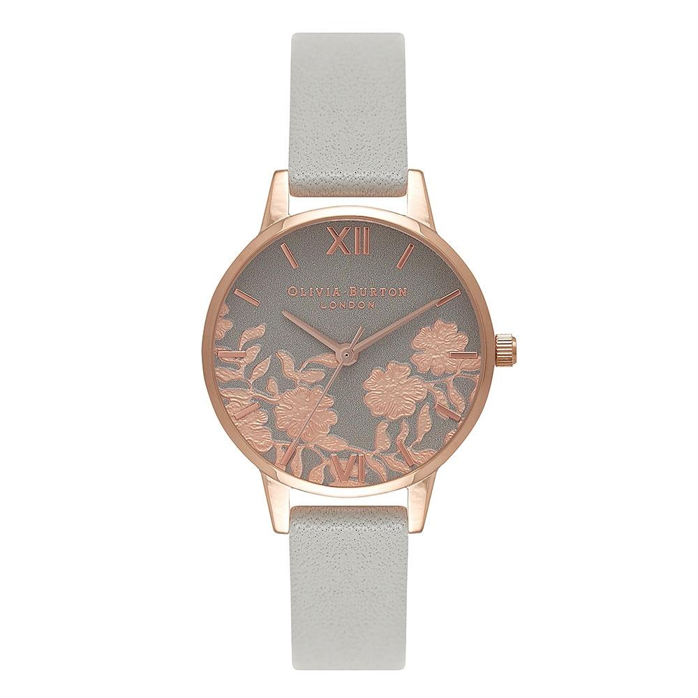 Olivia Burton Lace Grey Strap Watch