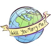 Will You Marry Me - Globe Sketch