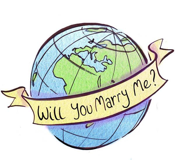 Engagement rings around the world