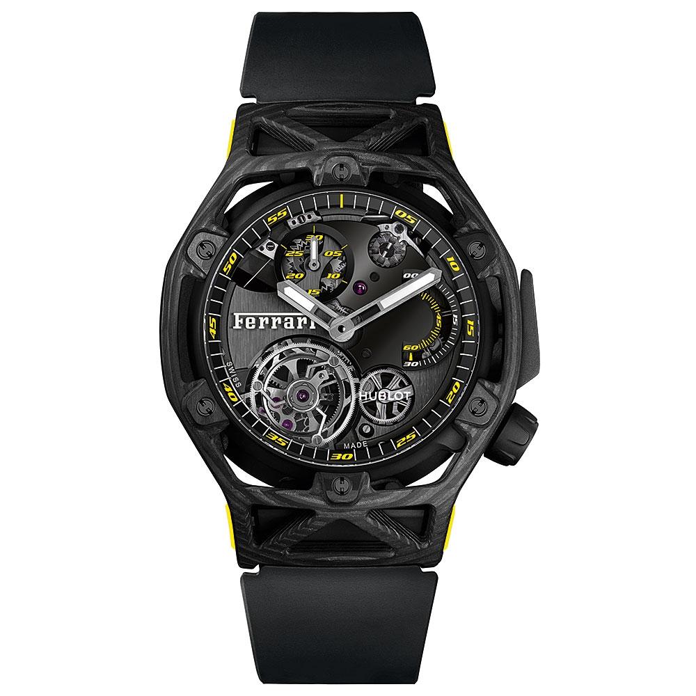 Hublot Techframe Ferrari Tourbillon Carbon Watch