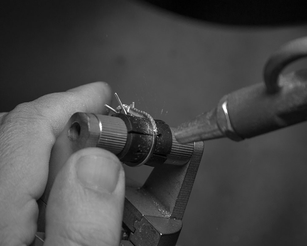 Crafting the Love Collection - Compressed air to clean ring