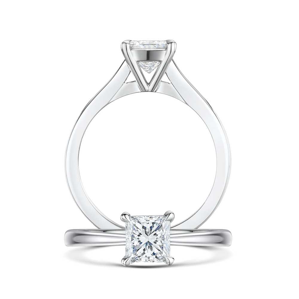Honour Princess Cut Diamond Engagement Ring