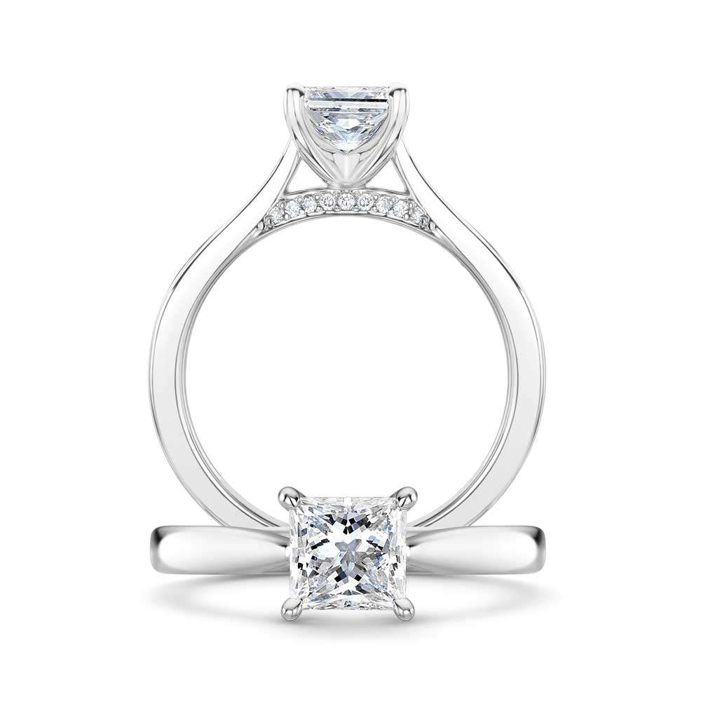 Adore Princess Cut Diamond Engagement Ring