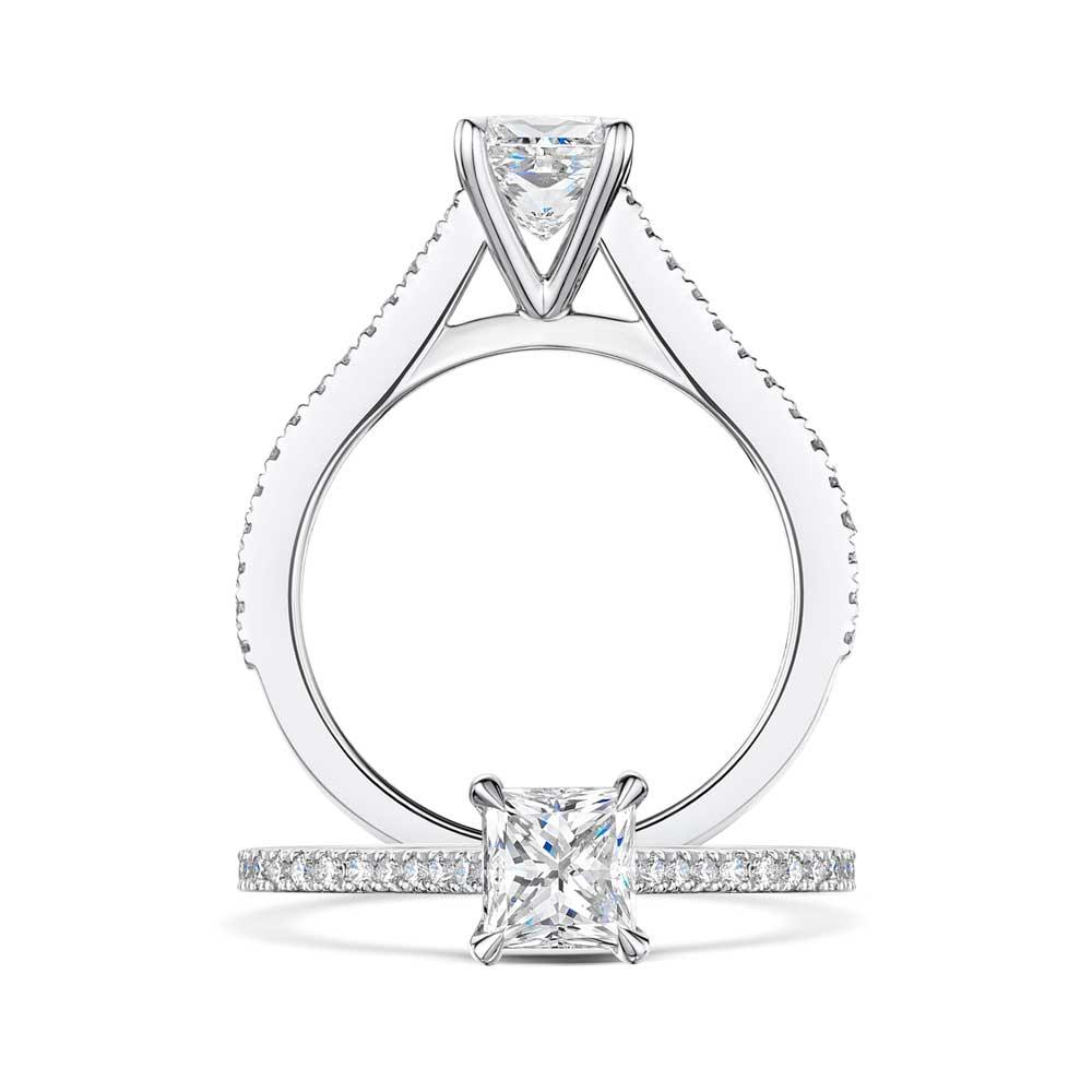 Love Princess Cut Diamond Engagement Ring