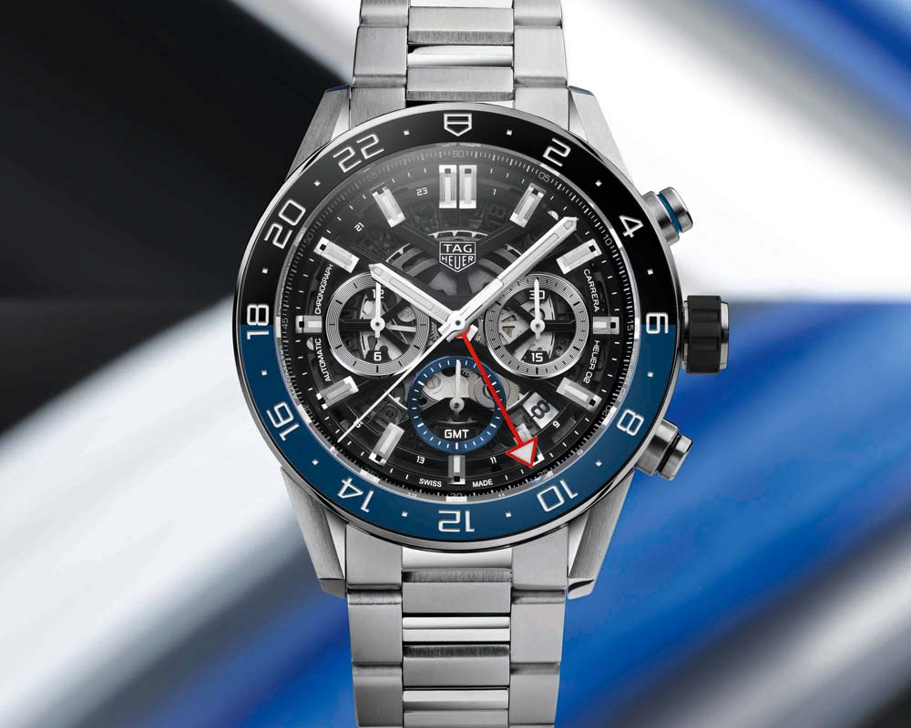 New TAG Heuer Carrera GMT Skeleton Watch