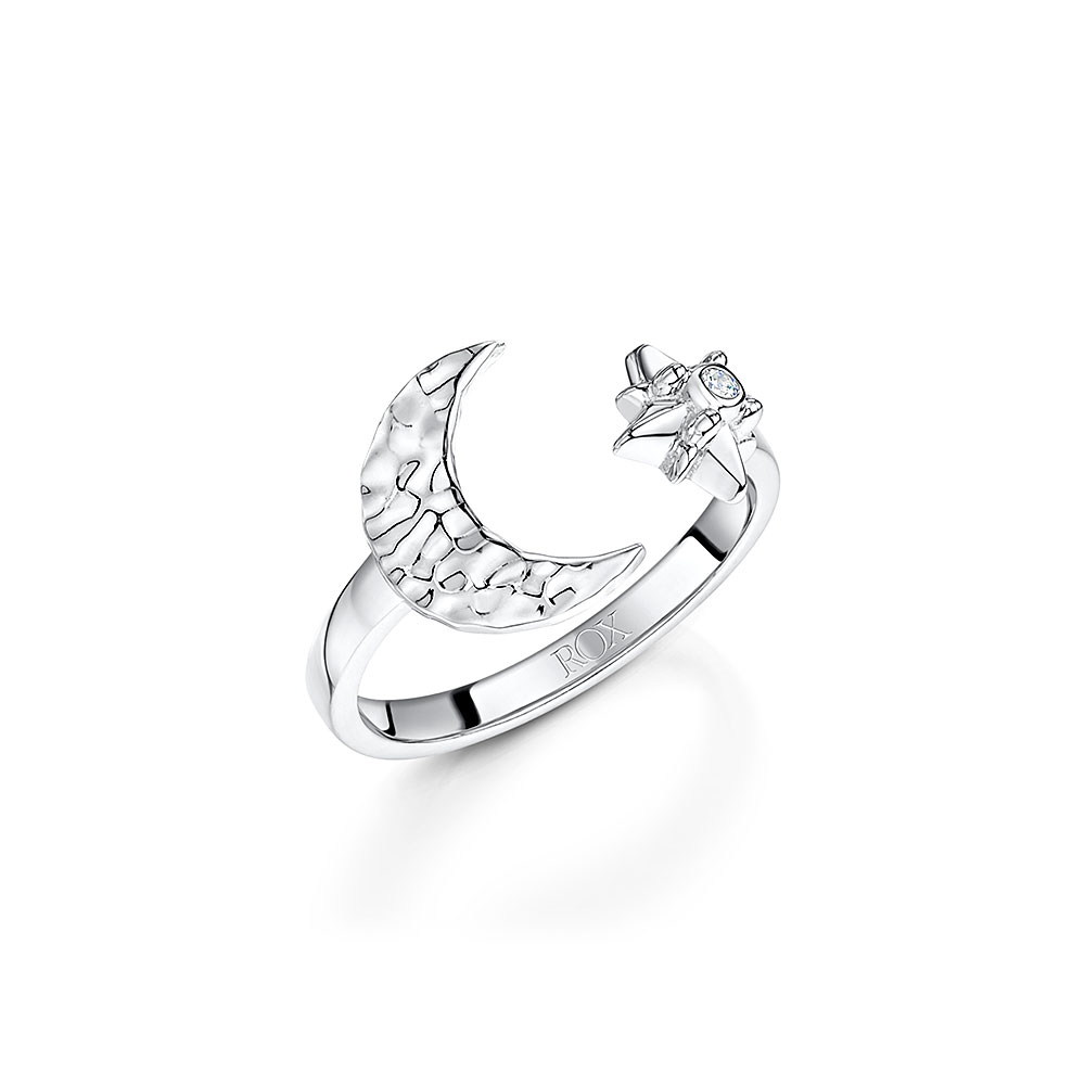 ROX Celestial Moon and Star Ring