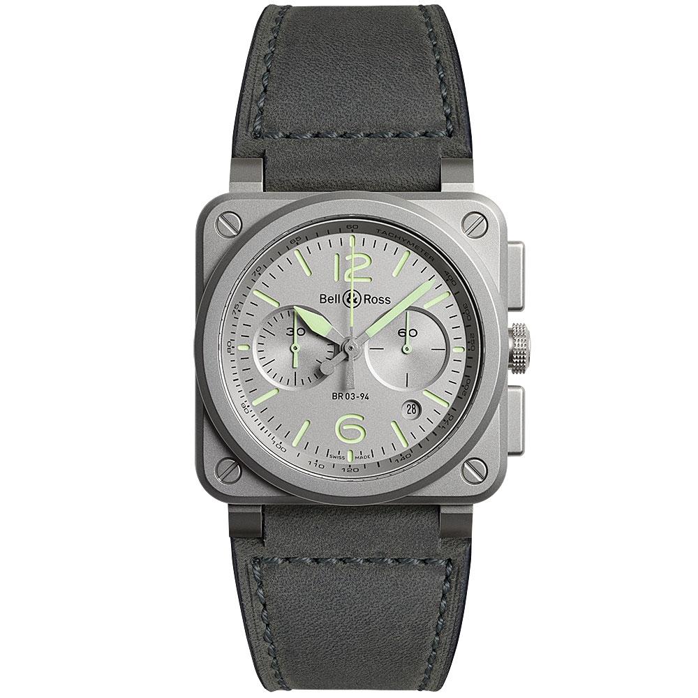 Bell & Ross Horolum Watch BR0394-GR-ST/SCA