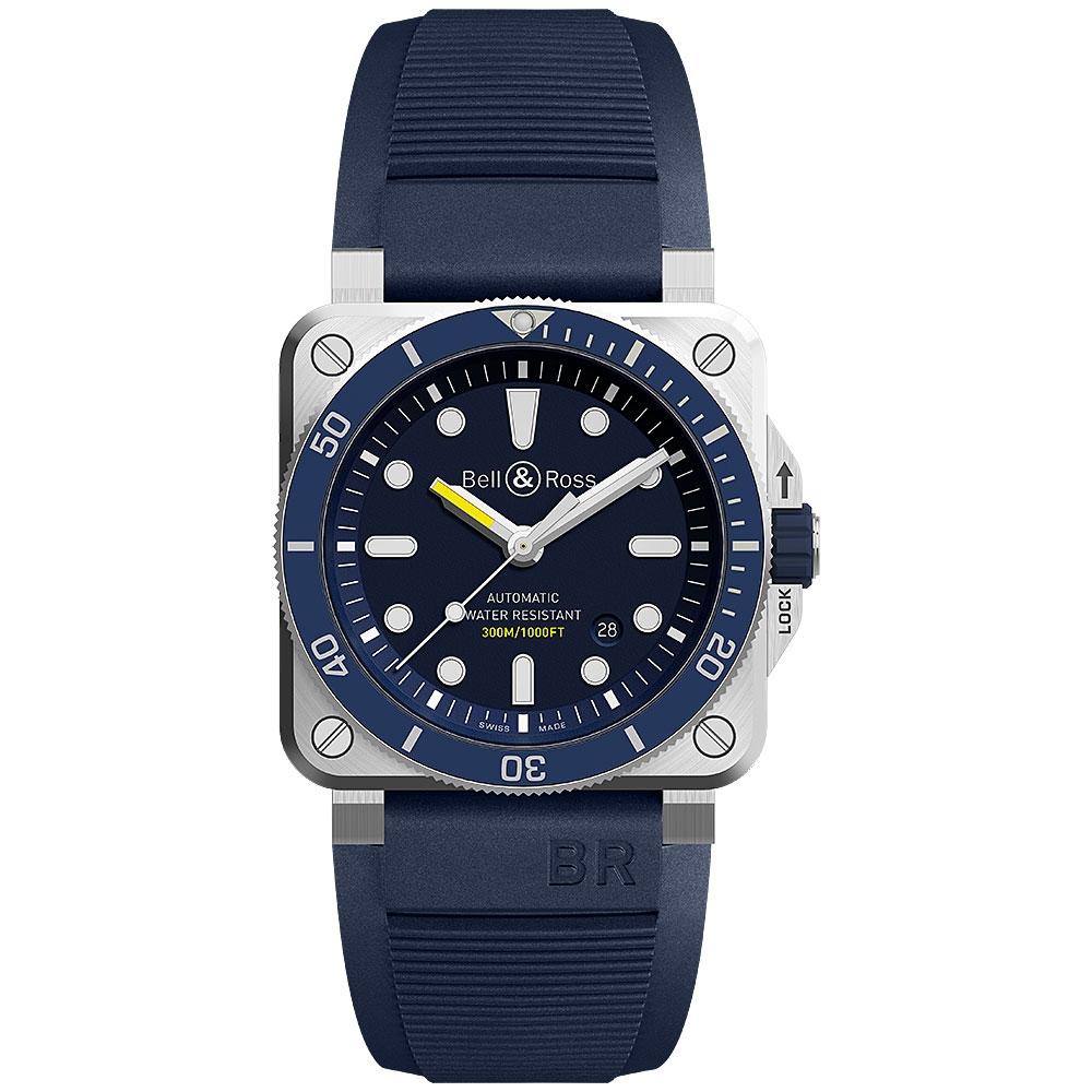 Bell & Ross Diver Watch 42mm BR0392-D-BU-ST/SRB