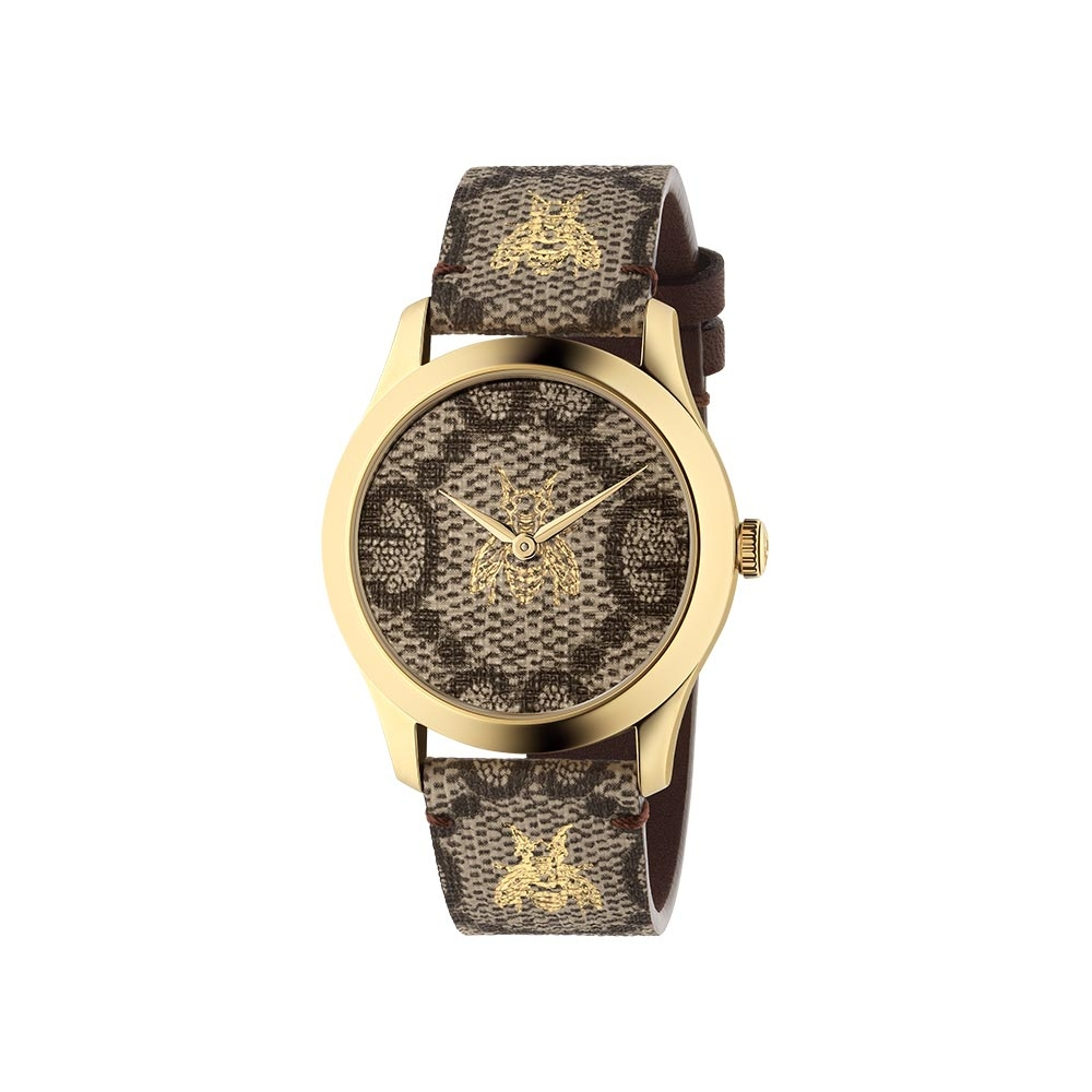 Gucci G-Timeless GG and Bee Motif Watch