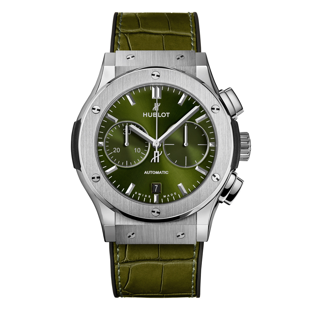 Hublot Classic Fusion Green Titanium Watch