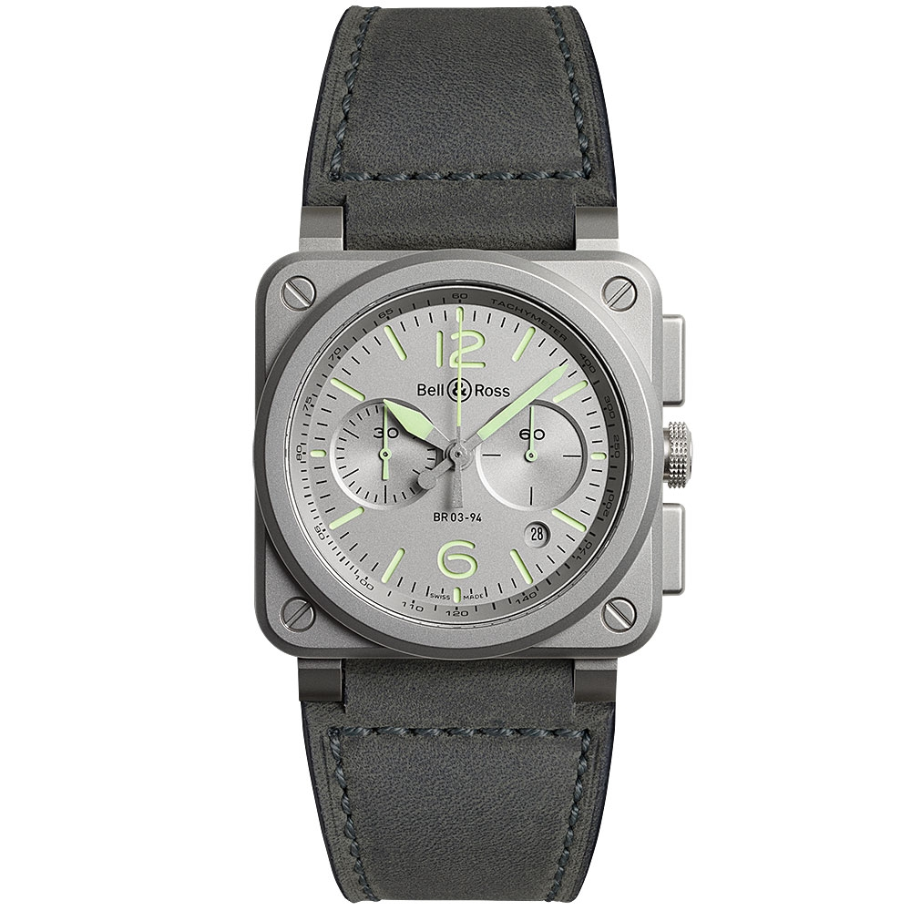Bell & Ross Horolum Watch BR0394-GR-ST/SCA