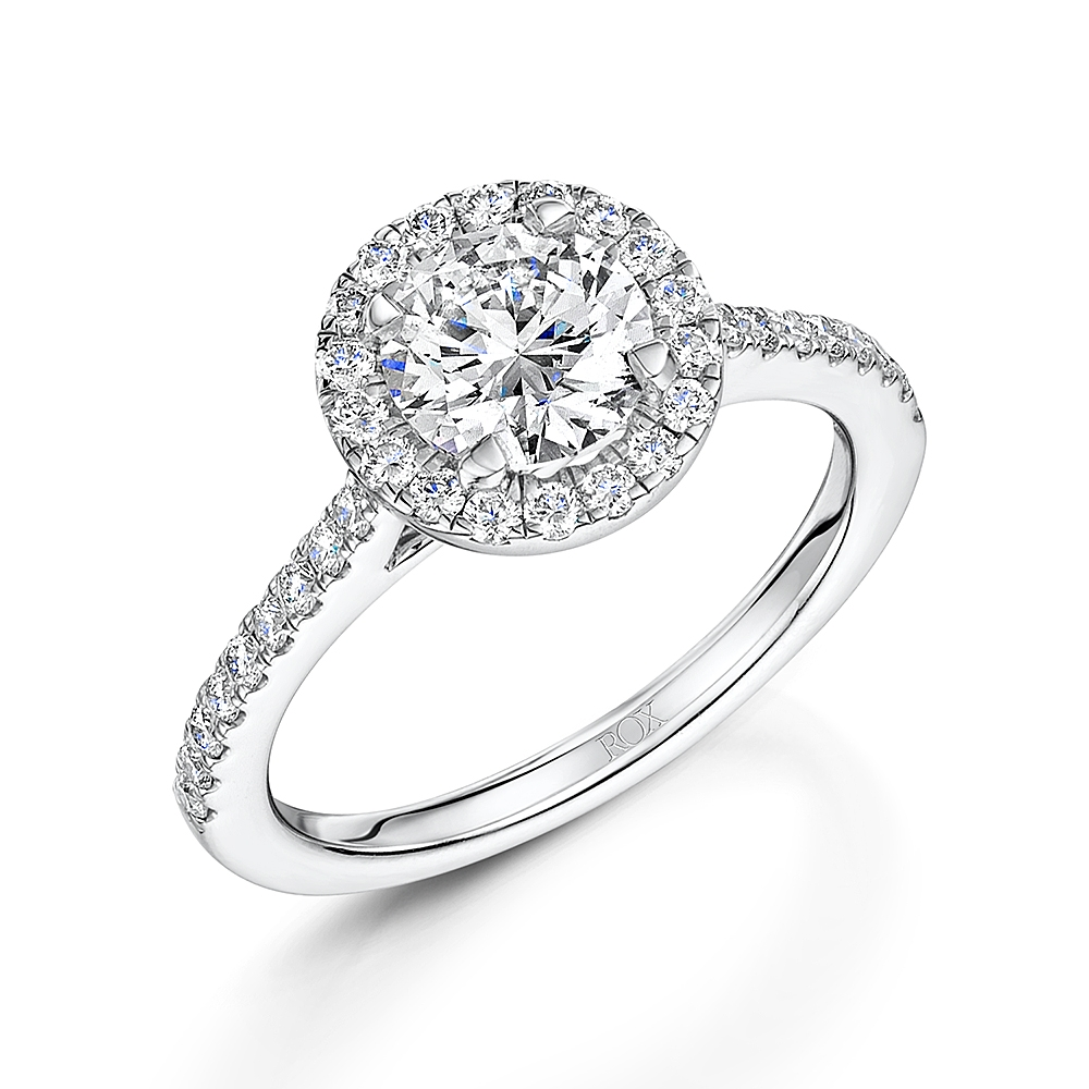ROX Brilliant Cut Diamond Halo Ring 1.51cts