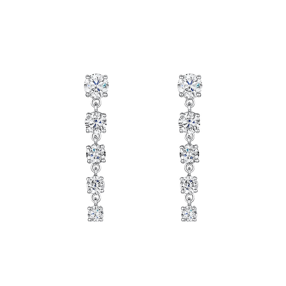 ROX Diamond Graduated Drop Earrings 1.08cts