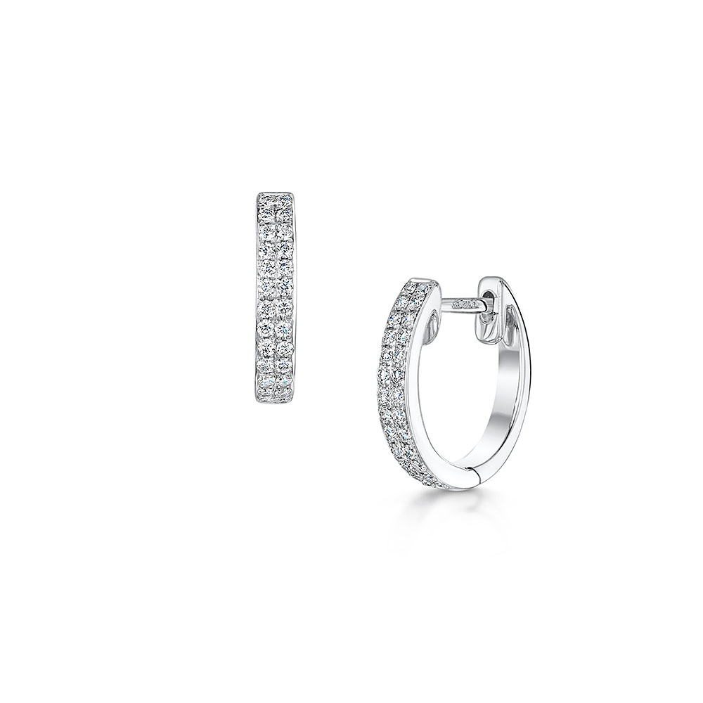 ROX Classic Diamond Hoop Earrings 0.19cts