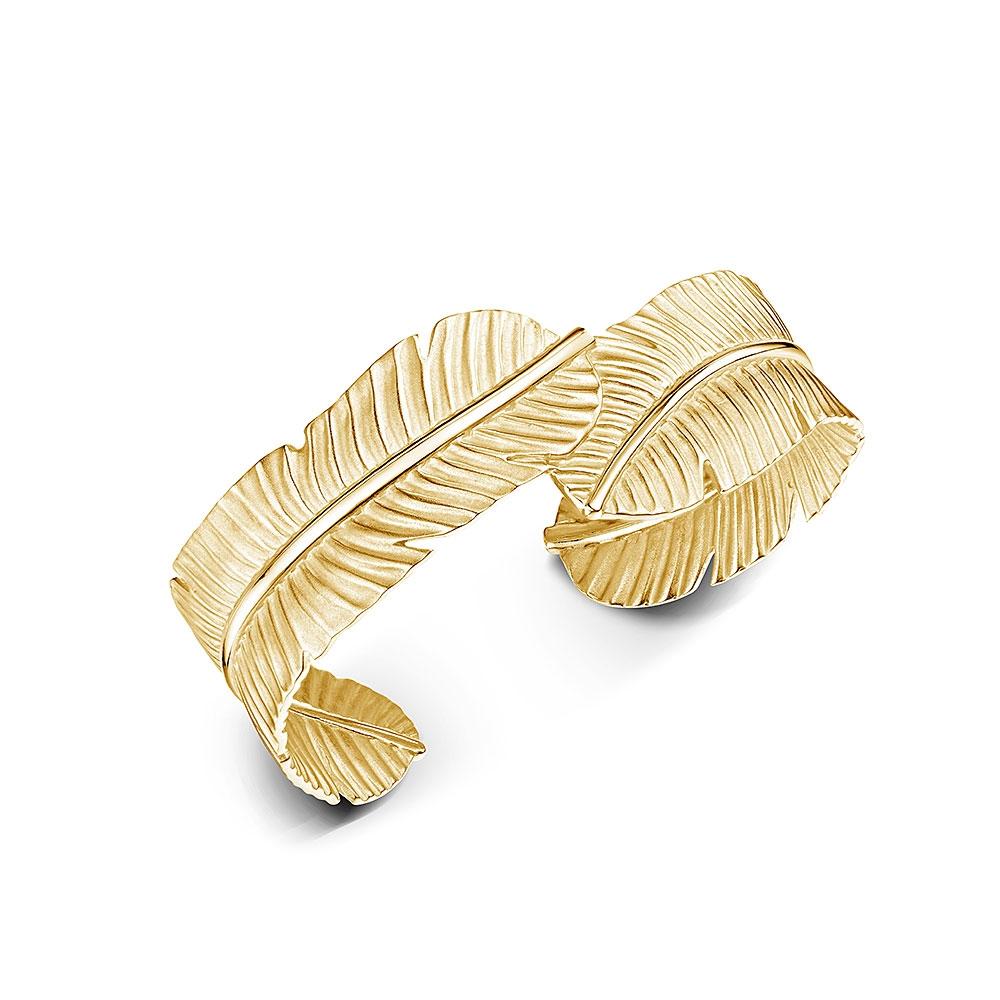 ROX Tiki Gold Vermeil Leaf Cuff