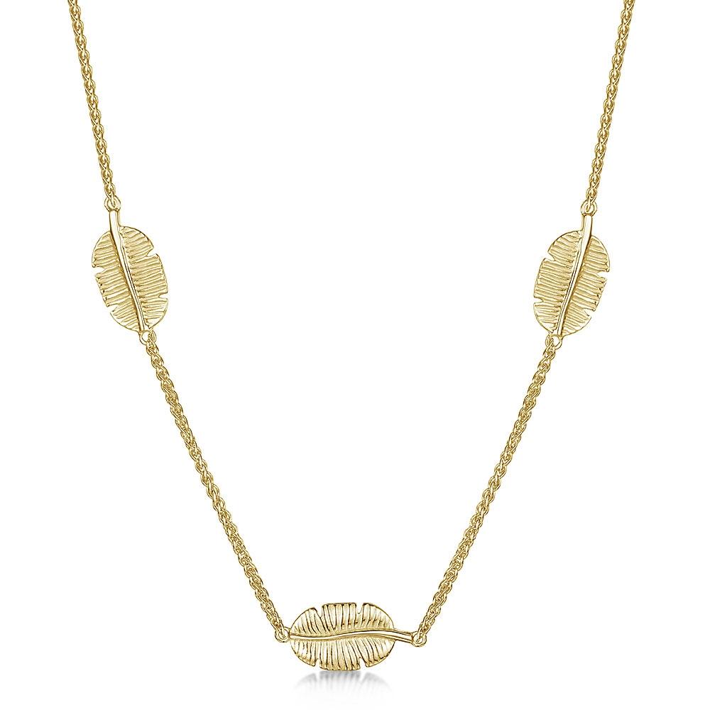 ROX Tiki Gold Vermeil Three Leaf Pendant